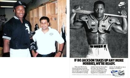 """Bo Jackson, coincidimos cuando trabajamos con White Sox, fue estrella de Fútbol Americano y Baseball, leyenda publicitaria con """"Bo Knows"""""""
