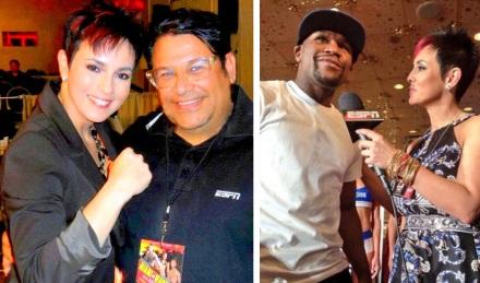 Comentarista Boxeo Claudia Trejos