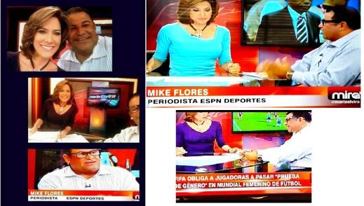 Una de las personalidades más influyentes de habla hispana en los Estados Unidos. Me entrevistó sobre FIFA y Juegos Olímpicos.
