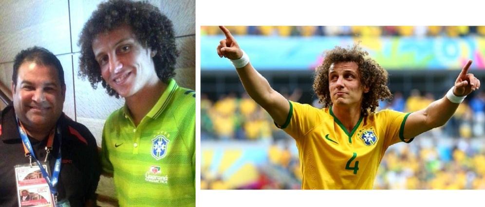 David Luiz, defensa central de la selección de Brasil y del Chelsea de Inglaterra.