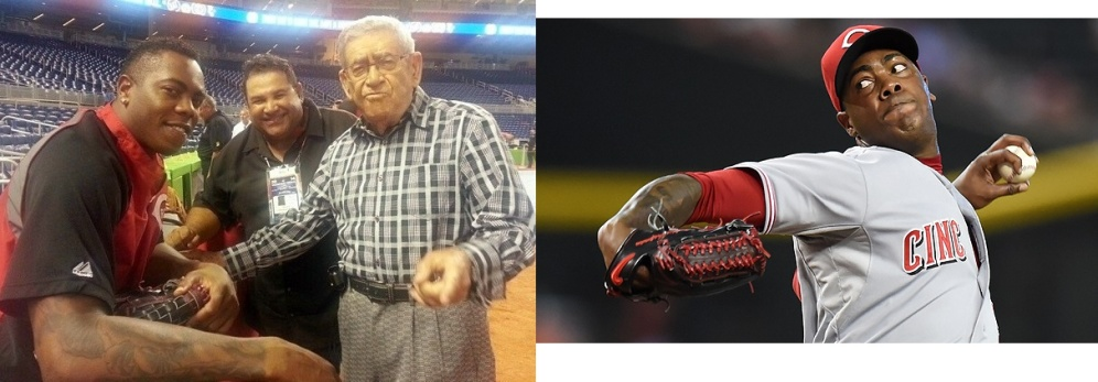Cubanos Aroldis Chapman y Felo Ramirez.