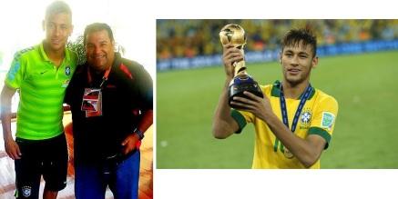 Neymar, estrella del fútbol mundial con la selección de Brasil y el Barcelona FC.